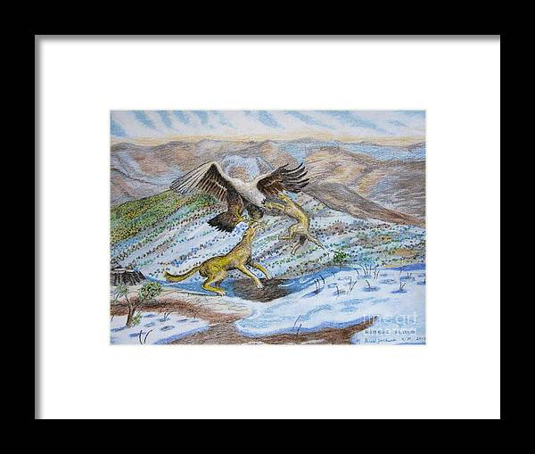 Mountain Framed Print featuring the pastel Australian Challenge by Gerald Ziolkowski