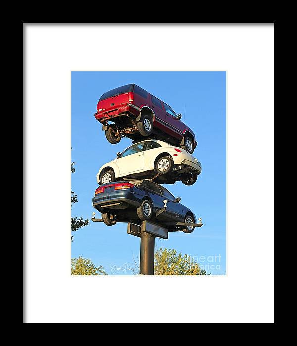 Car Framed Print featuring the photograph Auto Pile Up by Steve Gass