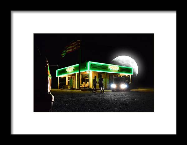 Framed Print featuring the photograph Auto Shop by Emily Miller