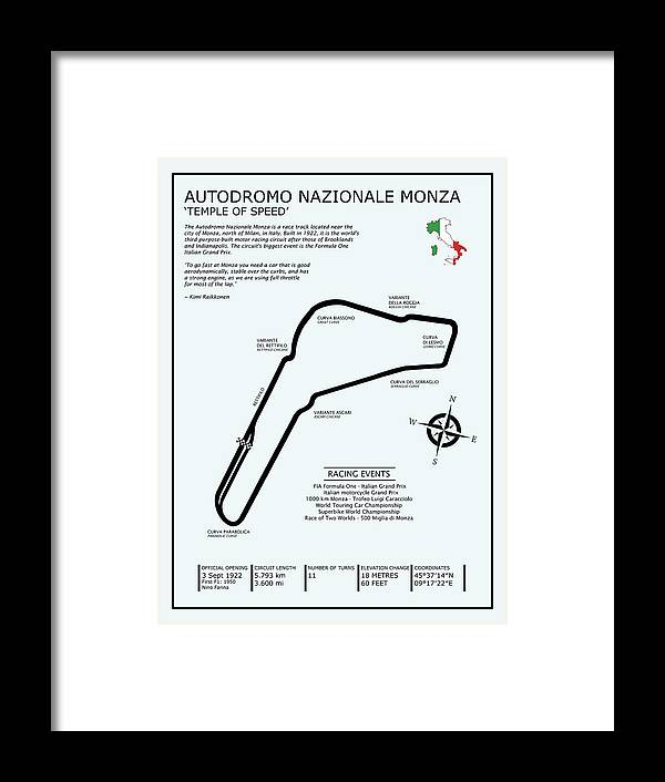 Monza Framed Print featuring the photograph Autodromo Nazionale Monza by Mark Rogan