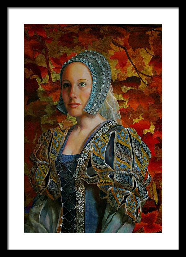 Costume Lady Framed Print featuring the painting Automne Tapisserie by RC Bailey