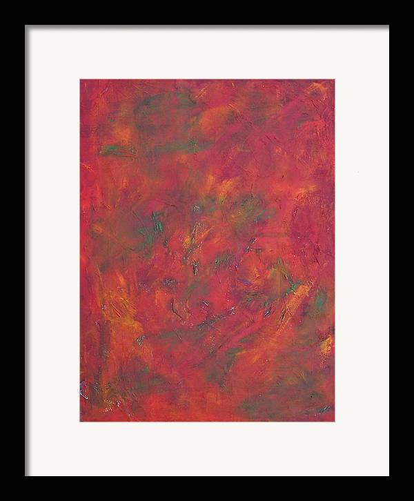 Abstract Framed Print featuring the painting Autum Leafs by Marcia Paige