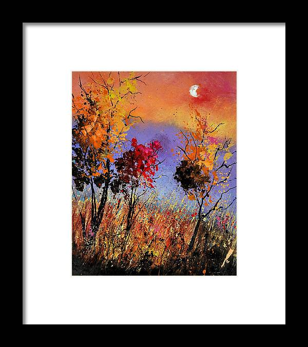 Landscape Framed Print featuring the painting Autumn 451110 by Pol Ledent