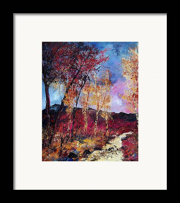 Landscape Framed Print featuring the painting Autumn 760808 by Pol Ledent