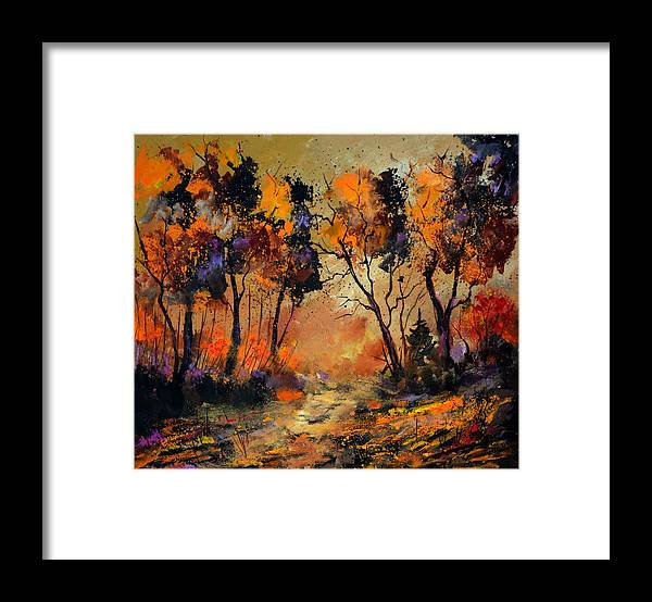 Landscape Framed Print featuring the painting Autumn 766130 by Pol Ledent