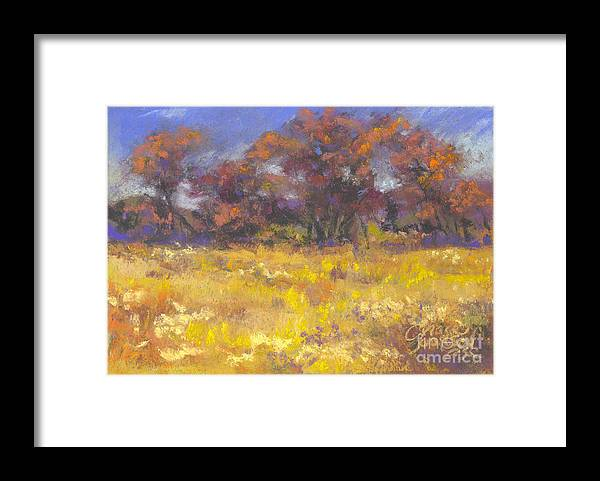 Pastel Framed Print featuring the painting Autumn Afternoon by Grace Goodson