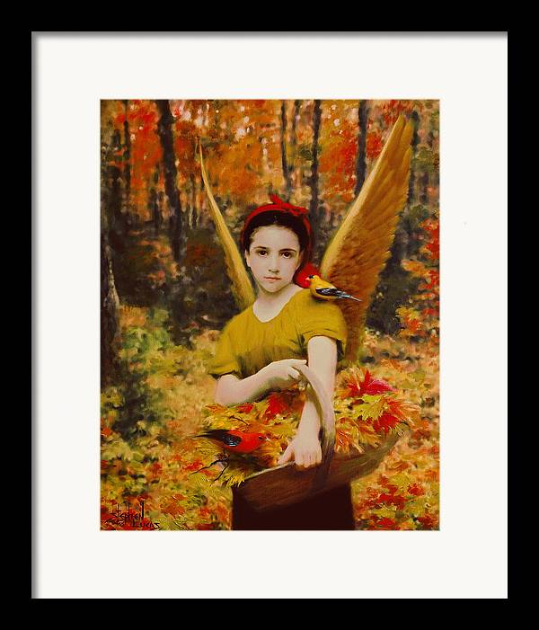 Angel Framed Print featuring the painting Autumn Angels by Stephen Lucas