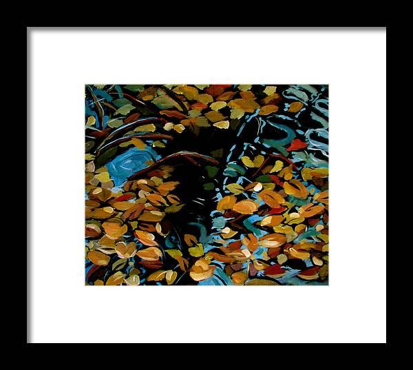 Autumn Framed Print featuring the painting Autumn by Art Nomad Sandra Hansen