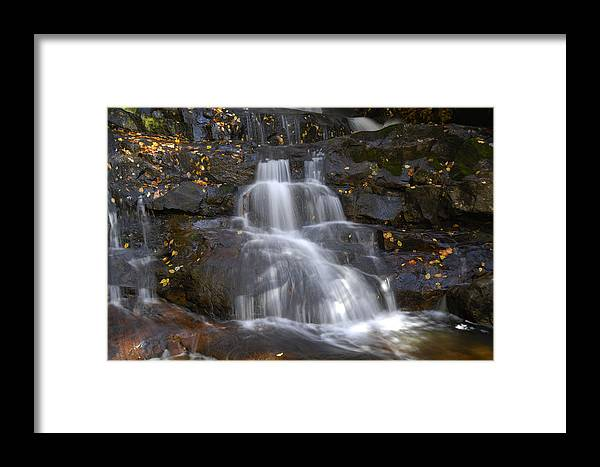 Laurel Falls Framed Print featuring the photograph Autumn At Laurel Falls by Darrell Young