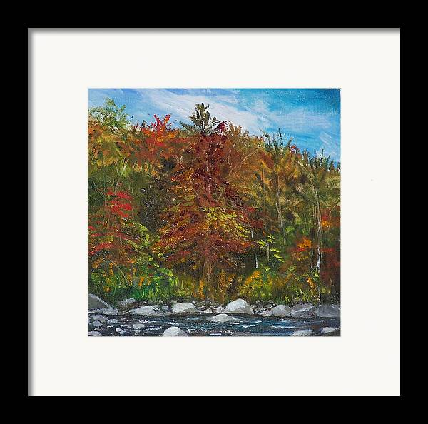 Autumn Framed Print featuring the painting Autumn Colors by Pamela Wilson