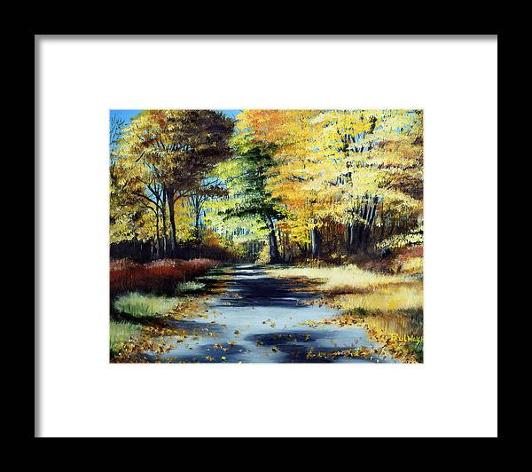 Landscape Framed Print featuring the painting Autumn Colors by Paul Walsh