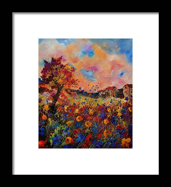 Poppies Framed Print featuring the painting Autumn Colors by Pol Ledent