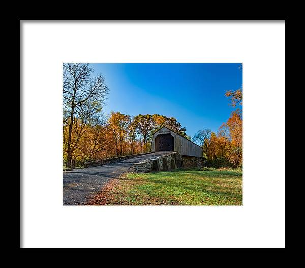 Autumn Framed Print featuring the photograph Autumn Crossing by Phil Abrams