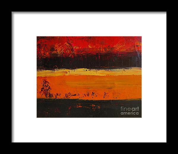 Abstract Painting Framed Print featuring the painting Autumn Day by Patricia Awapara
