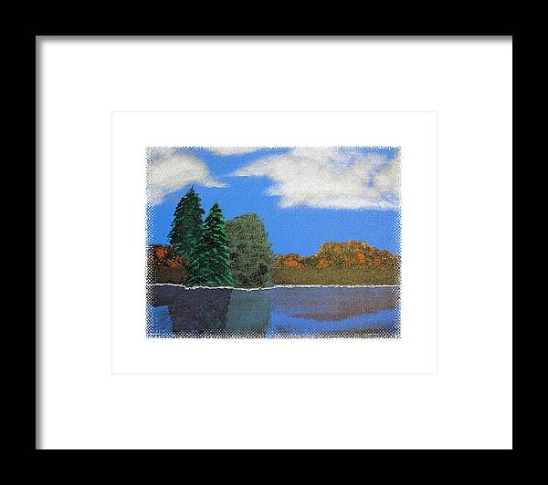 Landscape Framed Print featuring the painting Autumn Dusk- A Tribute To Ross by Robert Boyette