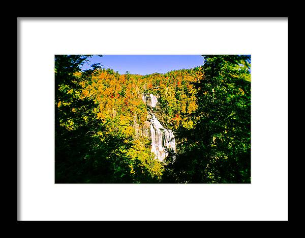 White Water Falls Framed Print featuring the photograph Autumn Falls by Tom Zukauskas