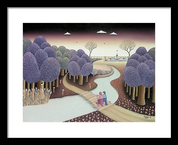 Forest Framed Print featuring the painting Autumn by Ferenc Pataki