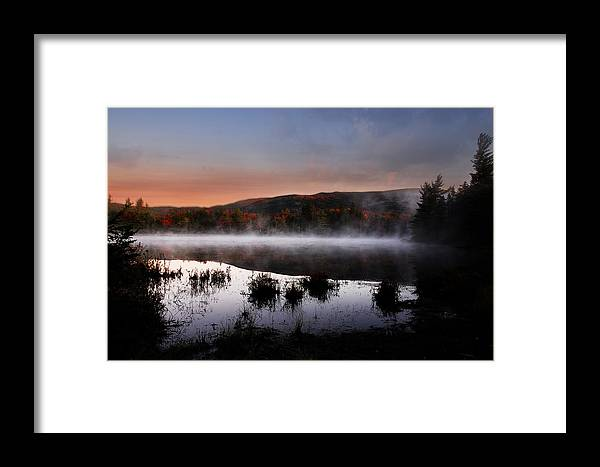 Autumn Framed Print featuring the photograph Autumn Fog by William Carroll