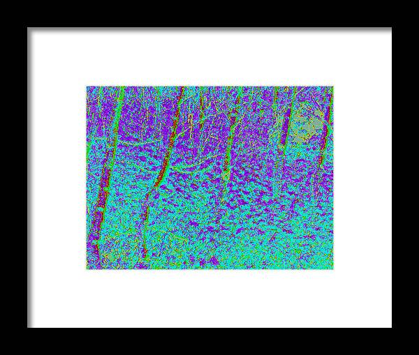 Framed Print featuring the digital art Autumn Foliage D4 by Modified Image