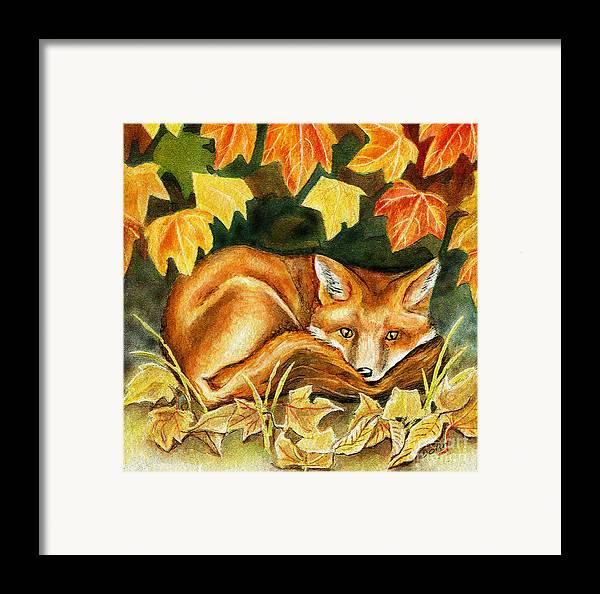 Autumn Framed Print featuring the painting Autumn Fox by Antony Galbraith
