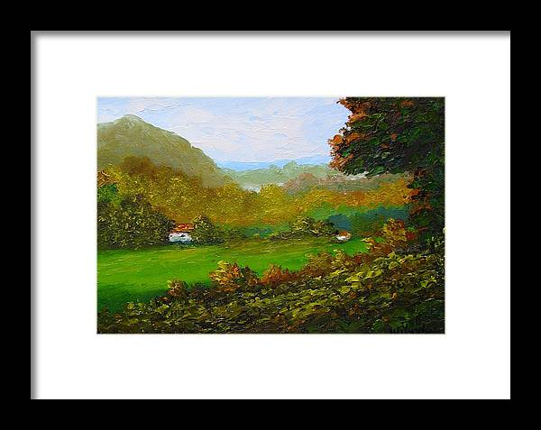 Landscape Framed Print featuring the painting Autumn by Fred Wilson