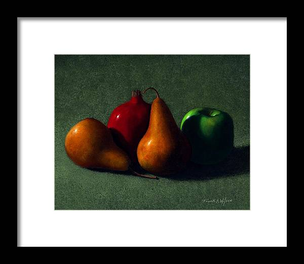 Still Life Framed Print featuring the painting Autumn Fruit by Frank Wilson