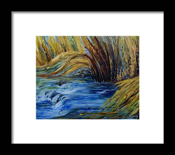 Autumn Grasses Framed Print featuring the painting Autumn Grasses by Joanne Smoley