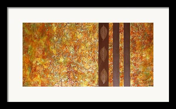 Texture Framed Print featuring the painting Autumn Harvest by Sophia Elise
