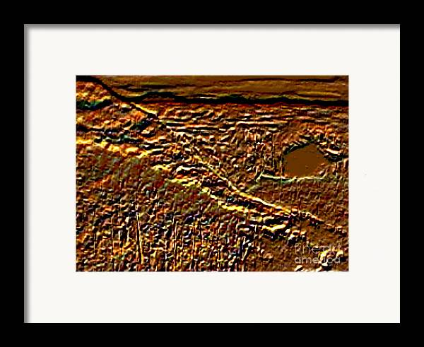 Computer Graphic Framed Print featuring the digital art Autumn Has Come by Brenda L Spencer
