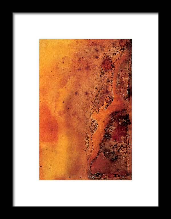 Autumn Haze One Framed Print featuring the painting Autumn Haze One by Ione Citrin