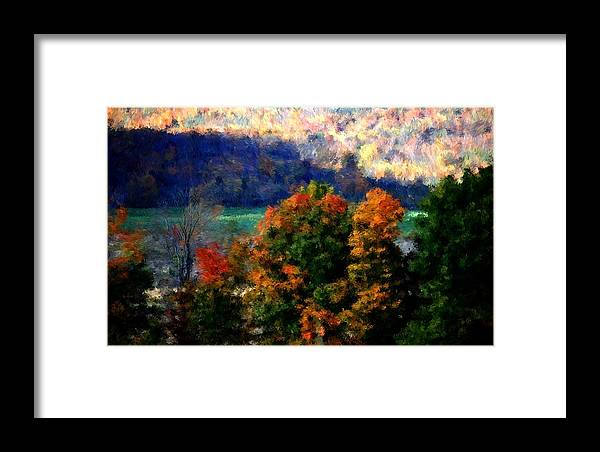 Digital Photograph Framed Print featuring the photograph Autumn Hedgerow by David Lane