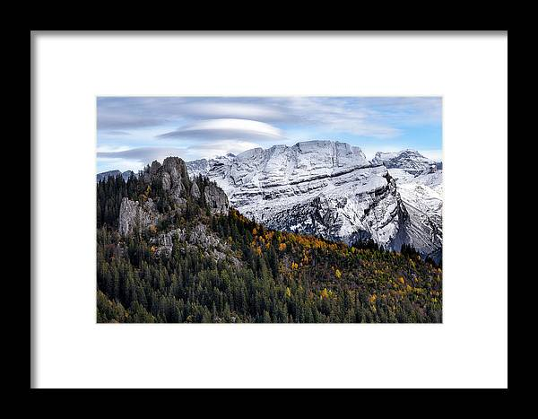 Mountians Framed Print featuring the photograph Autumn In Switzerland by Nedjat Nuhi