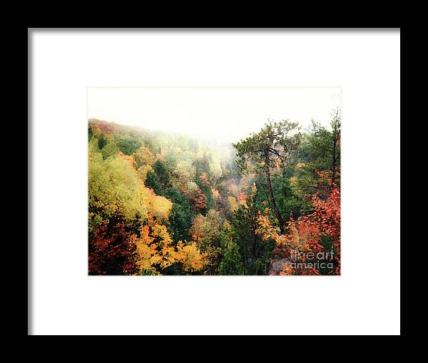 Marquette Framed Print featuring the digital art Autumn In Upper Peninsula by Phil Perkins
