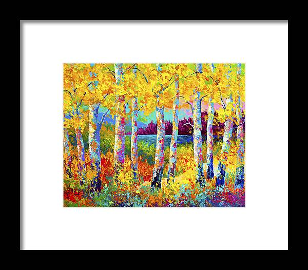 Trees Framed Print featuring the painting Autumn Jewels by Marion Rose