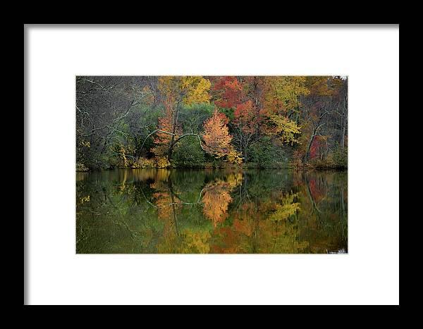 Lagoon Framed Print featuring the photograph Autumn Lagoon Reflection by Dan Farmer
