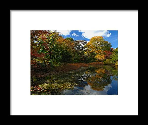 Autumn Framed Print featuring the photograph Autumn Landscape by Juergen Roth