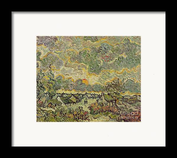 Autumn Framed Print featuring the painting Autumn Landscape by Vincent Van Gogh