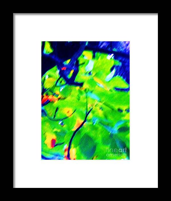 Abstract Framed Print featuring the painting Autumn Leaf Abstract by Eric Schiabor