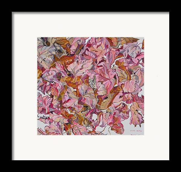 Autumn Framed Print featuring the painting Autumn Leafes by Vitali Komarov