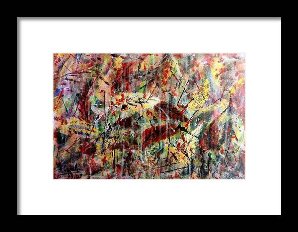 Framed Print featuring the painting Autumn Leaves by Anthony Camilleri