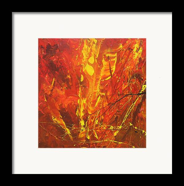 Painting Framed Print featuring the painting Autumn Leaves by Carrie Allbritton