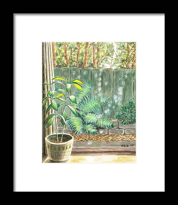 House Plants Framed Print featuring the painting Autumn Light by George I Perez