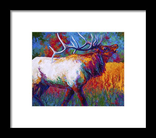 Elk Framed Print featuring the painting Autumn by Marion Rose