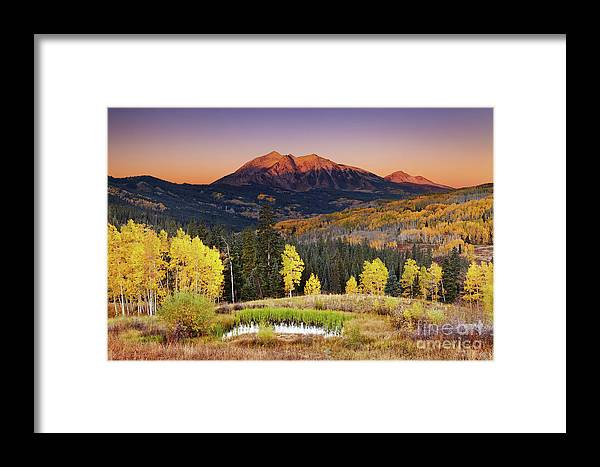 America Framed Print featuring the photograph Autumn Mountain Landscape, Colorado, Usa by Dmitry Pichugin