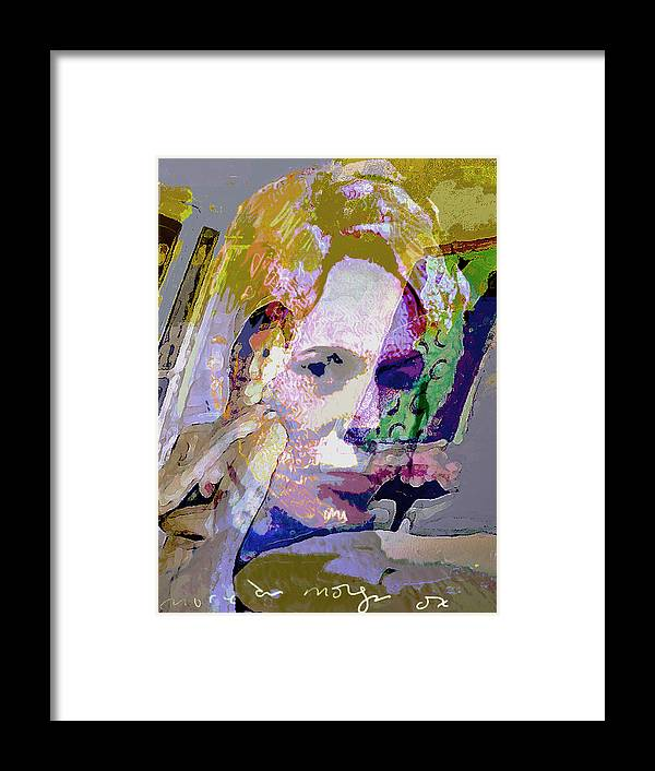 Grayish Framed Print featuring the painting Autumn by Noredin Morgan