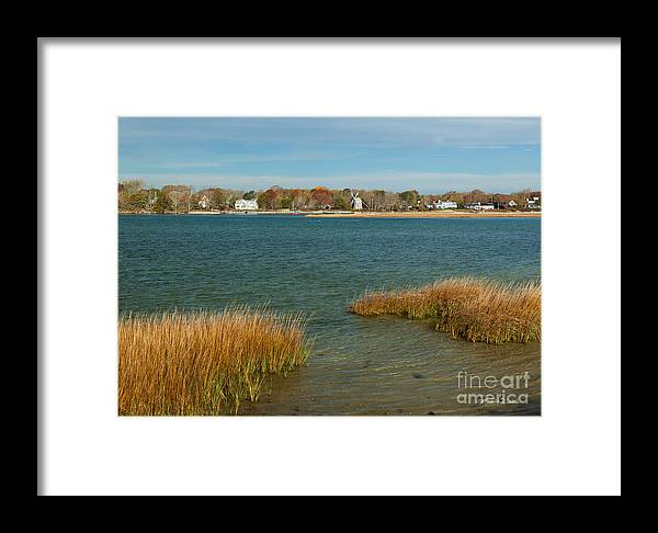 Autumn On The Bass River I Framed Print featuring the photograph Autumn On The Bass River I by Michelle Constantine