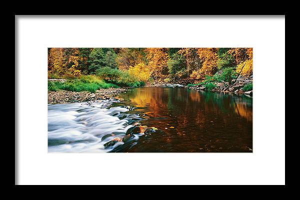 Photography Framed Print featuring the photograph Autumn On The Merced River Yosemite Np by Edward Mendes