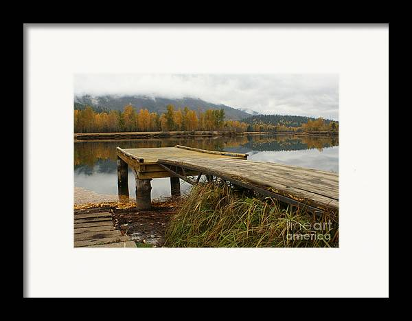 River Framed Print featuring the photograph Autumn On The River by Idaho Scenic Images Linda Lantzy