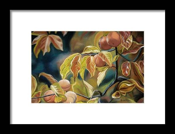 Autumn Framed Print featuring the painting Autumn Peaches by Brenda Williams