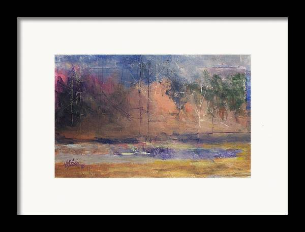 Impresstionist Framed Print featuring the painting Autumn Pond by Dalas Klein